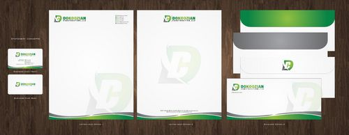 Dokoozian Construction, LLC. Business Cards and Stationery  Draft # 143 by Deck86