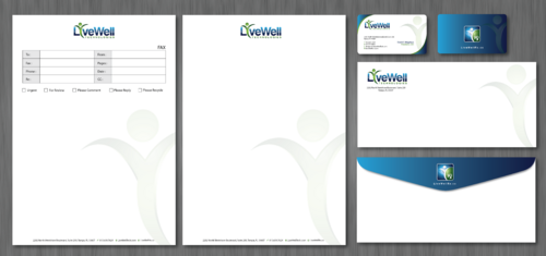 LiveWell Technologies and Rx Business Cards and Stationery Winning Design by ArtworksKingdom