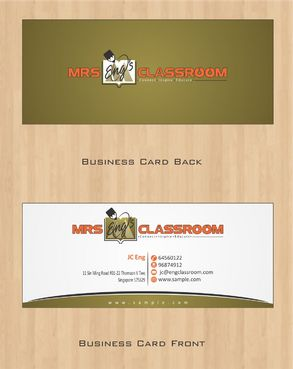 Mrs Eng's Classroom Business Cards and Stationery  Draft # 73 by Deck86