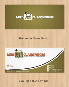 Mrs Eng's Classroom Business Cards and Stationery  Draft # 80 by Deck86