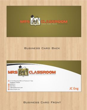 Mrs Eng's Classroom Business Cards and Stationery  Draft # 81 by Deck86