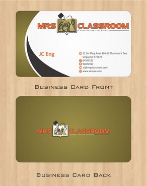 Mrs Eng's Classroom Business Cards and Stationery  Draft # 83 by Deck86