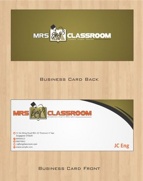 Mrs Eng's Classroom Business Cards and Stationery  Draft # 82 by Deck86