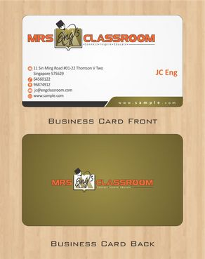 Mrs Eng's Classroom Business Cards and Stationery  Draft # 87 by Deck86
