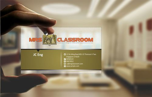 Mrs Eng's Classroom Business Cards and Stationery  Draft # 92 by Deck86