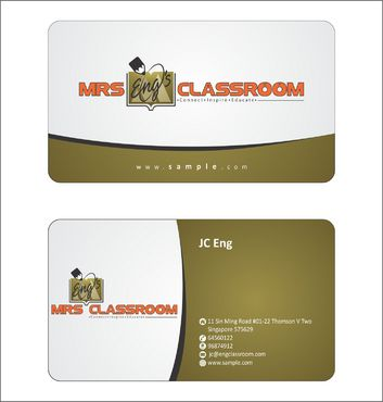 Mrs Eng's Classroom Business Cards and Stationery  Draft # 96 by Deck86