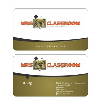 Mrs Eng's Classroom Business Cards and Stationery  Draft # 98 by Deck86