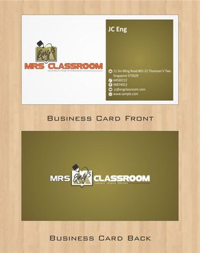 Mrs Eng's Classroom Business Cards and Stationery  Draft # 105 by Deck86