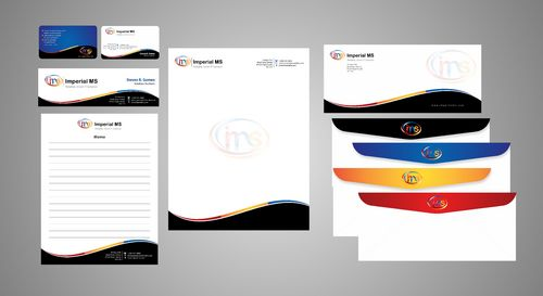 business card, letterhead, envelopes, email signature,memo pad