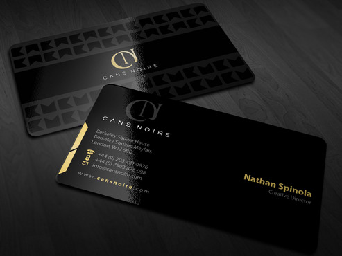 simple but slick business card layout