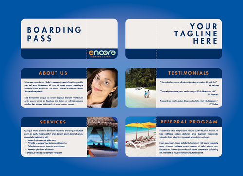 travel agency Marketing collateral  Draft # 1 by DXCUCR