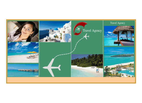 travel agency Marketing collateral  Draft # 2 by rakeldesign
