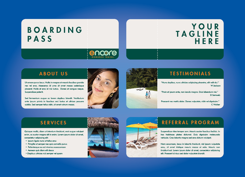 travel agency Marketing collateral  Draft # 3 by DXCUCR