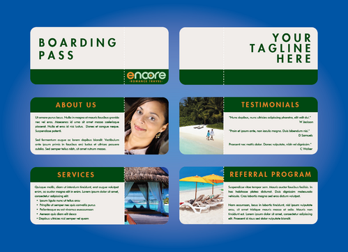 travel agency Marketing collateral  Draft # 4 by DXCUCR