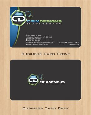 Crix Designs Business Cards and Stationery  Draft # 126 by Deck86