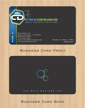 Crix Designs Business Cards and Stationery  Draft # 127 by Deck86