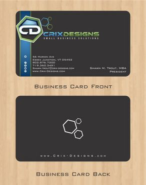 Crix Designs Business Cards and Stationery  Draft # 129 by Deck86