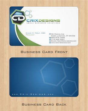 Crix Designs Business Cards and Stationery  Draft # 132 by Deck86