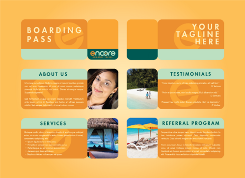 travel agency Marketing collateral  Draft # 9 by DXCUCR