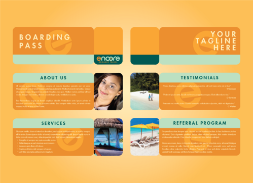 travel agency Marketing collateral  Draft # 10 by DXCUCR