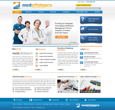 Website for healthcare data analytics start-up (cloud based predictive solution for physicians)
