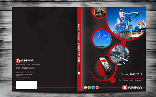 Catalog cover for a manufacturing company