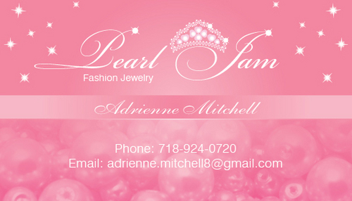 Business Cards for Pearl Jam