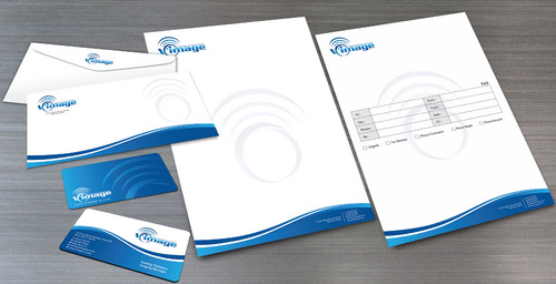 Business cards, Letterhead, Envelope, Fax Cover