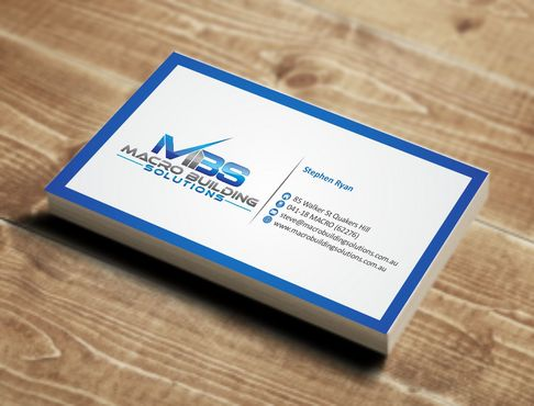 Macro Building Solutions Business Cards and Stationery  Draft # 58 by Deck86