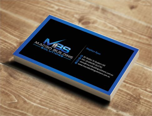 Macro Building Solutions Business Cards and Stationery  Draft # 59 by Deck86