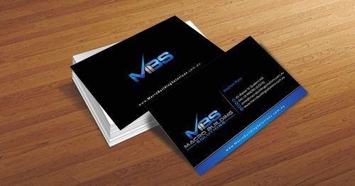 Macro Building Solutions Business Cards and Stationery  Draft # 63 by Deck86