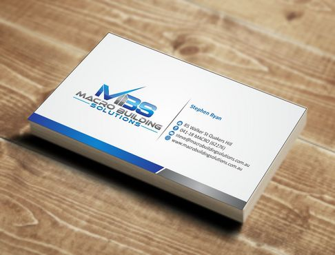 Macro Building Solutions Business Cards and Stationery  Draft # 64 by Deck86