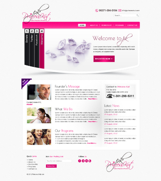 Princess Kut Website Design