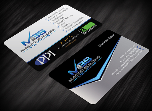 Macro Building Solutions Business Cards and Stationery  Draft # 249 by waterdropdesign