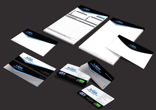 Macro Building Solutions Business Cards and Stationery  Draft # 250 by waterdropdesign