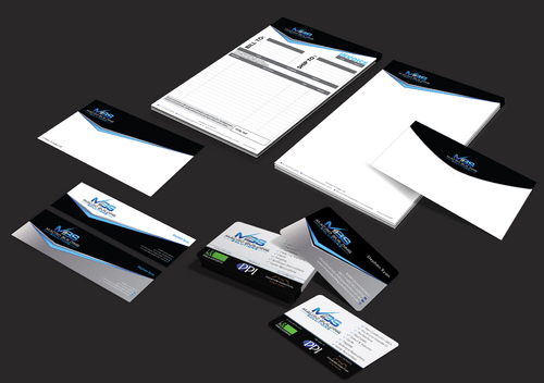 Macro Building Solutions Business Cards and Stationery  Draft # 257 by waterdropdesign