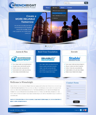 WRENCHRIGHT Complete Web Design Solution  Draft # 37 by mbmkdesigns