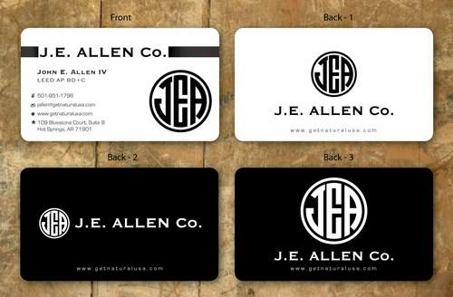 J.E. Allen Company Business Cards and Stationery  Draft # 118 by namgraphics