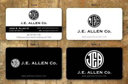 J.E. Allen Company Business Cards and Stationery  Draft # 119 by namgraphics