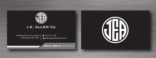 J.E. Allen Company Business Cards and Stationery  Draft # 120 by namgraphics