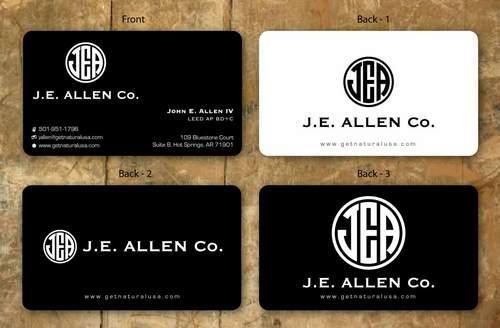 J.E. Allen Company Business Cards and Stationery  Draft # 121 by namgraphics