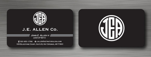 J.E. Allen Company Business Cards and Stationery  Draft # 122 by namgraphics