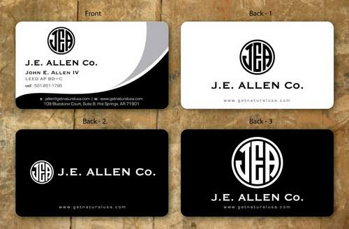 J.E. Allen Company Business Cards and Stationery  Draft # 123 by namgraphics