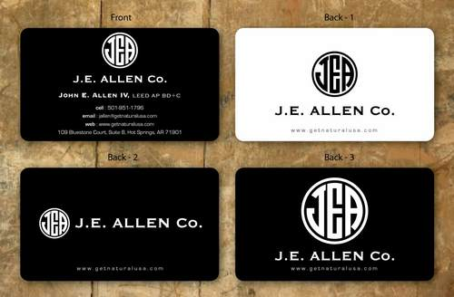 J.E. Allen Company Business Cards and Stationery  Draft # 124 by namgraphics
