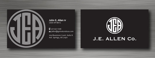 J.E. Allen Company Business Cards and Stationery  Draft # 125 by namgraphics