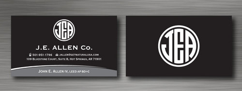 J.E. Allen Company Business Cards and Stationery  Draft # 126 by namgraphics