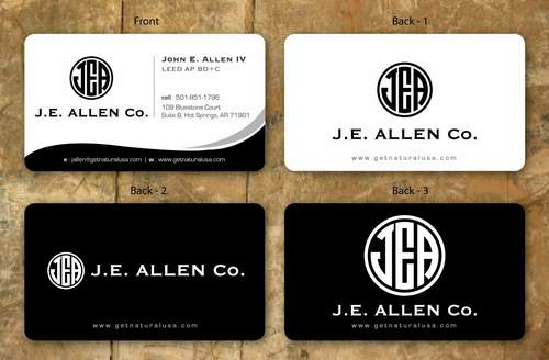 J.E. Allen Company Business Cards and Stationery  Draft # 127 by namgraphics