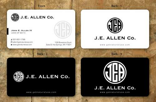 J.E. Allen Company Business Cards and Stationery  Draft # 128 by namgraphics