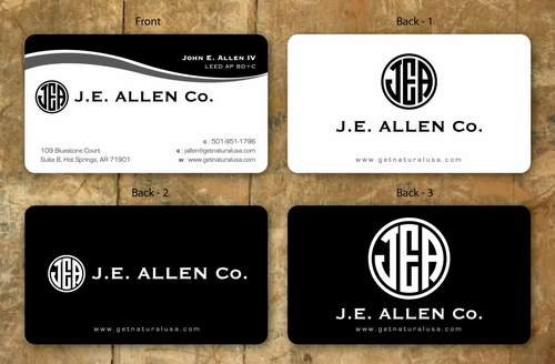 J.E. Allen Company Business Cards and Stationery  Draft # 131 by namgraphics