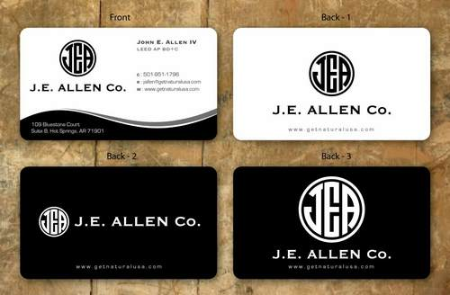 J.E. Allen Company Business Cards and Stationery  Draft # 132 by namgraphics